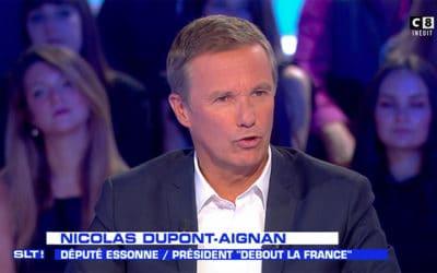 La charge de Dupont-Aignan contre Guillon et les médias