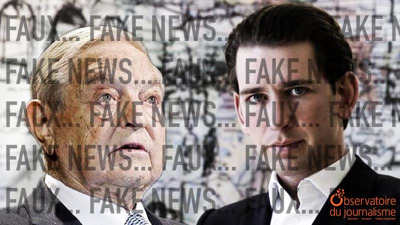 Sebastian Kurz contre Soros : décryptage d'une fausse rumeur