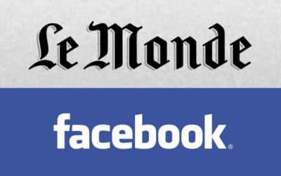 Le Monde et Facebook : même combat pour la censure sur latoile