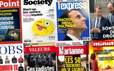 Hebdomadaires et mensuels : que lit-on à la Une des magazines (2) ?