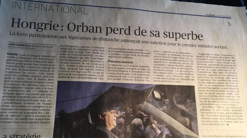 Élections en Hongrie : comment Le Figaro prend ses désirs pour des réalités et se prend les pieds dans le tapis