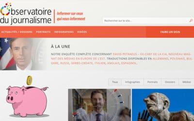 Observatoire du journalisme, nouveau site, nouveaux défis et appel aux lecteurs