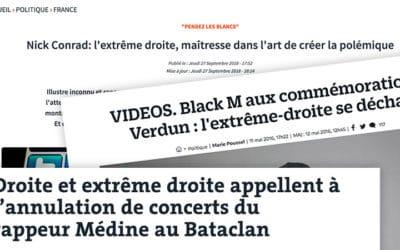 Black M, Médine, Nick Conrad : derrière l'indignation, « l'extrême-droite » désignée coupable