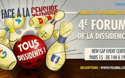 Quatrième Forum de la dissidence le 17 novembre à Paris