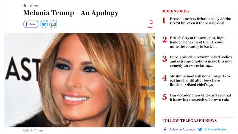 Infox/Fake news : après Der Spiegel, le Telegraph fait son mea culpa
