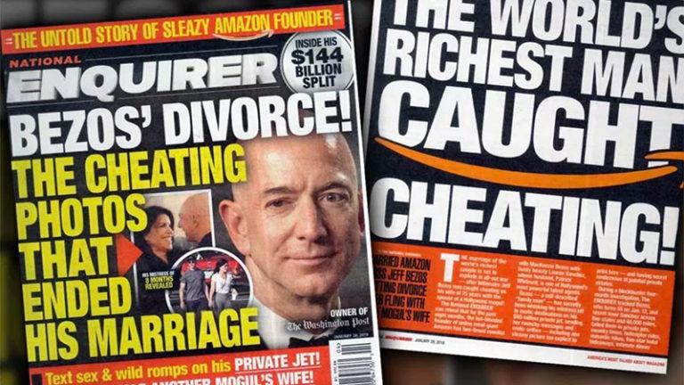 Jeff Bezos et le National Enquirer : quand les gros sous ne sont jamais loin du sordide