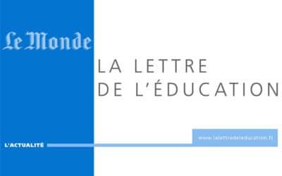 Le Monde a lancé sa « Lettre de l'éducation »