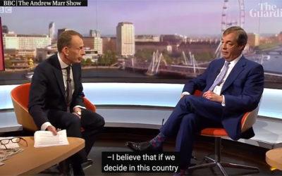 Quand la BBC libérale libertaire malmène Nigel Farage