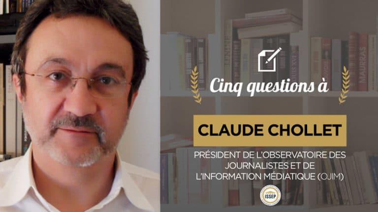 Claude Chollet, président de l'OJIM, répond aux questions de l'ISSEP