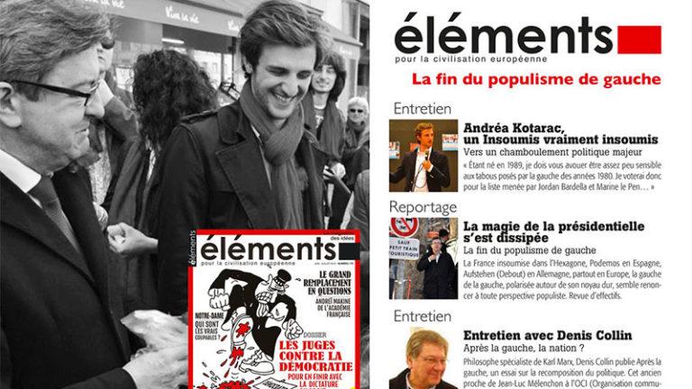 Sur Éléments et BFM, André Kotarac appelle à voter pour le RN, revue de presse