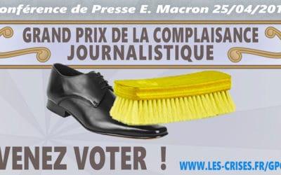 Journalisme de complaisance, la conférence de presse d'Emmanuel Macron du 25 avril2019