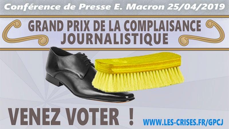 Journalisme de complaisance, la conférence de presse d'Emmanuel Macron du 25 avril 2019