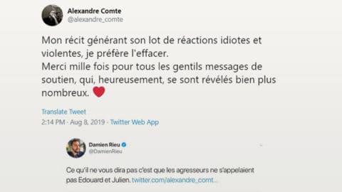 Alexandre Comte, journaliste aux Inrocks, retire le récit de son agression pour ne pas stigmatiser les minorités