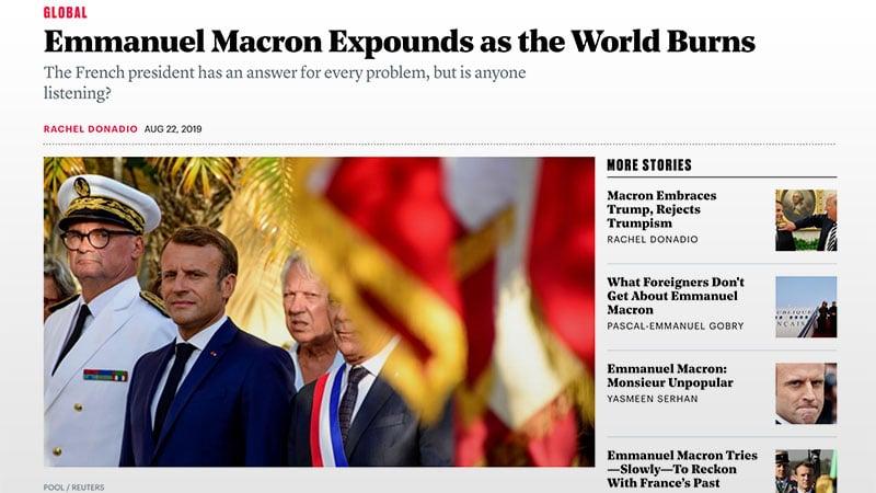 Macron vu d'Amérique