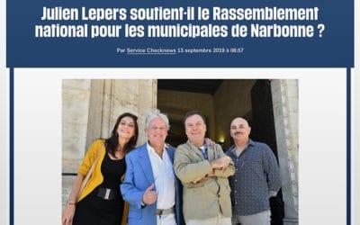Julien Lepers rend visite à un ami à Narbonne