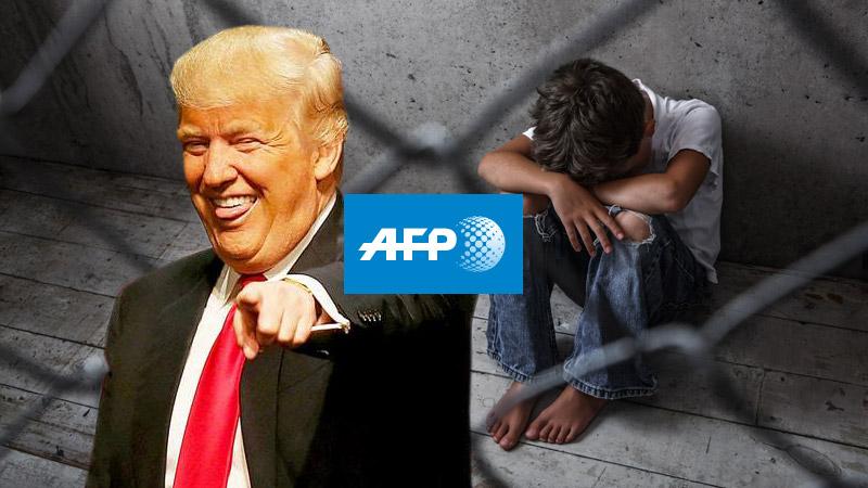 L'AFP voir cent mille enfants détenus sous Trump, avec 4 ans de retard