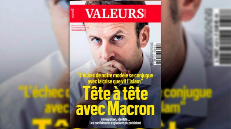 Le président Macron dans Valeurs Actuelles : les médias convenus mal à l'aise