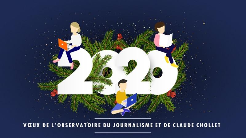 Vœux de l'Observatoire du journalisme et de Claude Chollet
