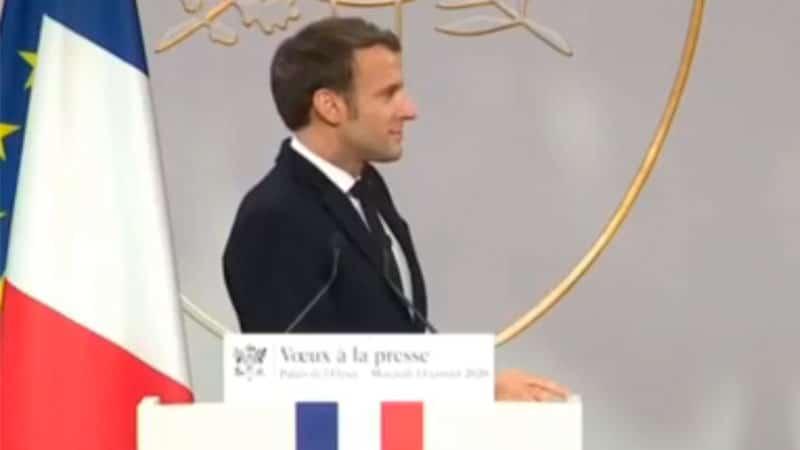 Vœux à la presse de Macron, liberté côté cour, répression côté jardin