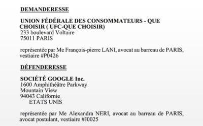Google condamné en 2019… discrètement