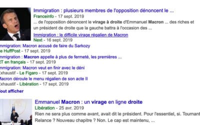 Virage à droite d'Emmanuel Macron: une opération d'enfumage reçue 5 sur 5 dans les médias