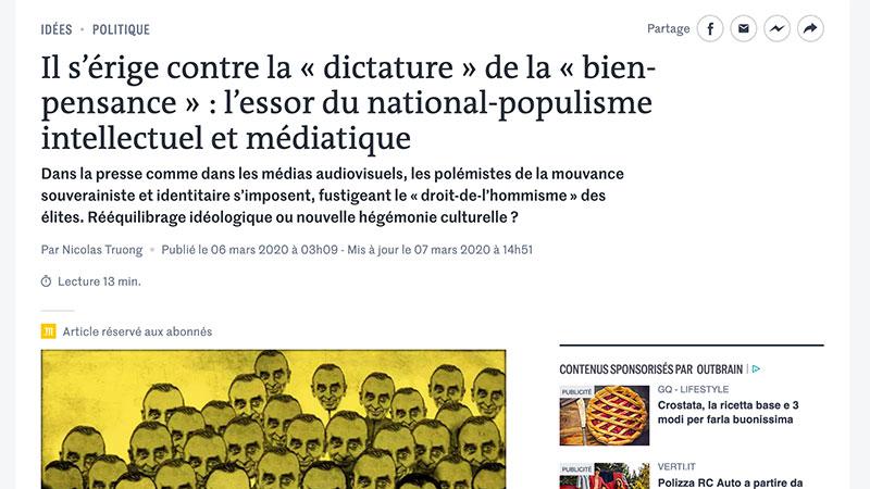 Populisme, frontières : Nicolas Truong et Le Monde, pris à contre-pied