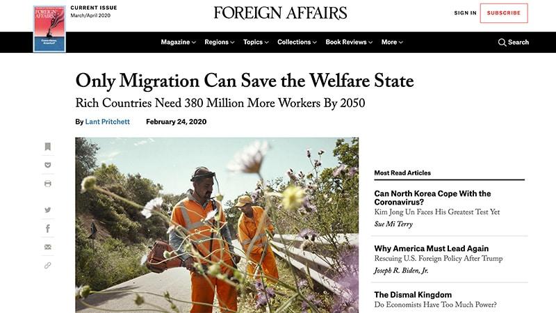 Foreign Affairs: migrants de tous les pays, unissez-vous !