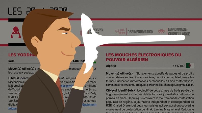 Infox: RSF, la paille et la poutre