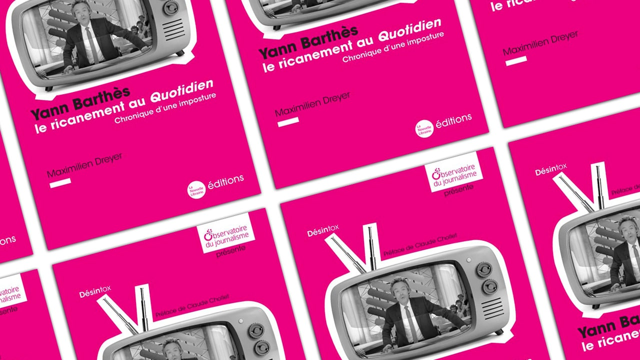 Yann Barthès, le ricanement au Quotidien, première brochure de l'Ojim