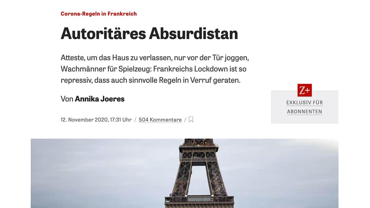 L'Absurdistan français vu par les médias, Allemagne et France