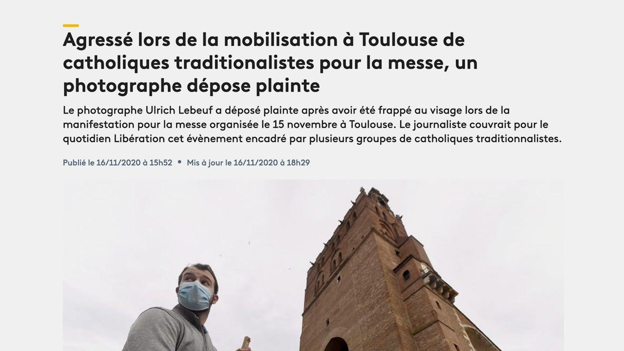 Journalistes agressés à Toulouse : une manipulation de l'extrême gauche