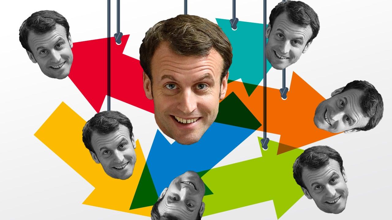 Emmanuel Macron dans les médias, le président caméléon