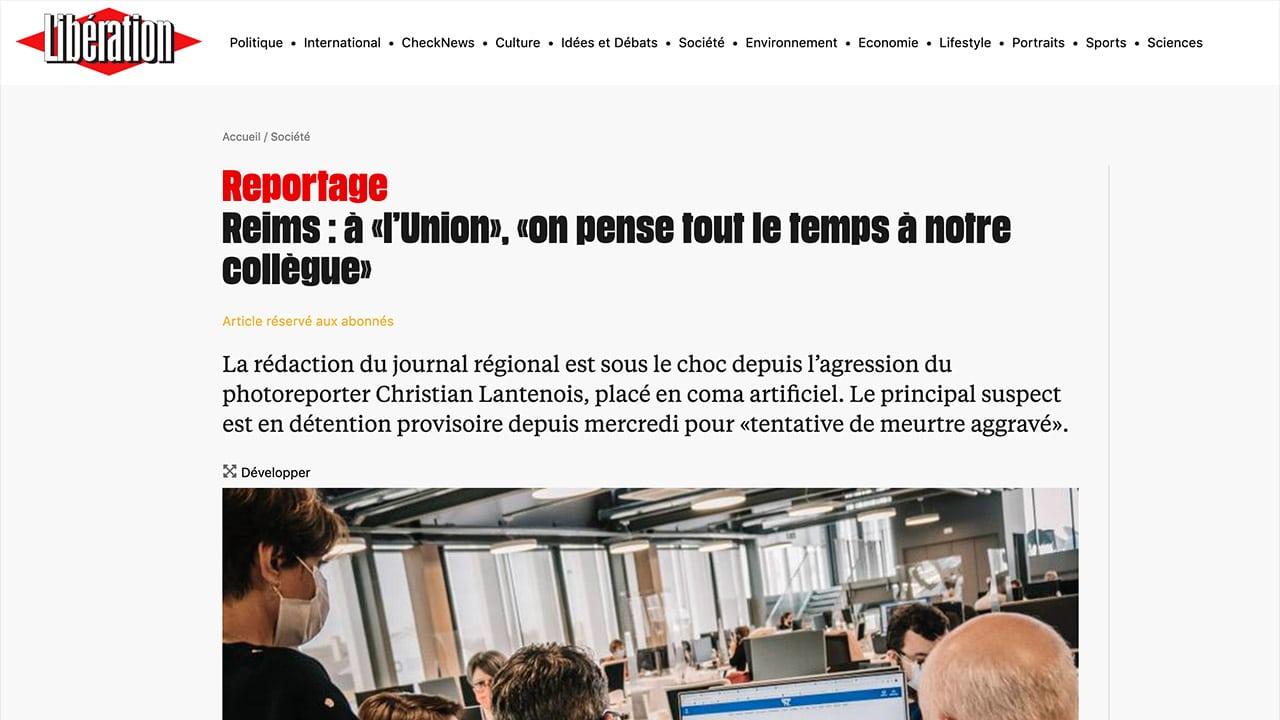 Reims: un photographe de l'Union tabassé et dans le coma, un algérien clandestin interpellé