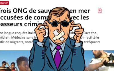 Révélations sur les relations troubles entre ONG et passeurs: les médias français détournent le regard