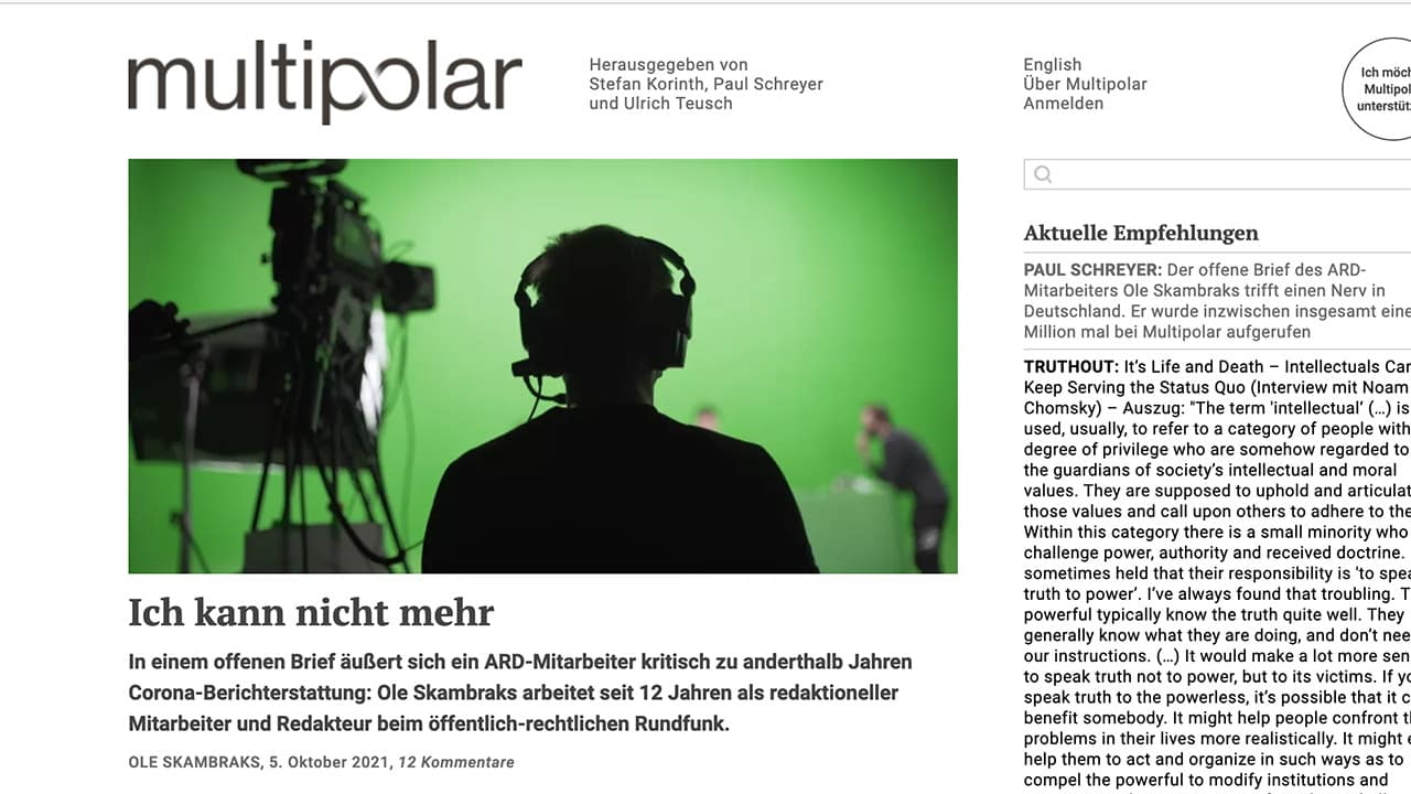 "Allemagne : ""Je ne peux plus"", lettre ouverte d'Ole Skambraks"
